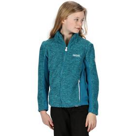 Regatta Highton Winter Full Zip Fleece Jacket Kids, freshwater blue/dark methyl